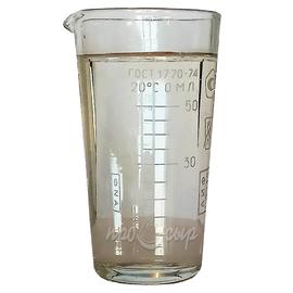 Мензурка (пробирка) мерная стеклянная 50 мл (ГОСТ 1770-74)